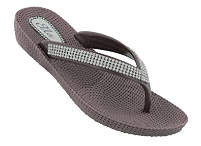 4bf78a1fc462 ella Womens S1 Low Wedge Toe Post Flip Flop Sandals in a Choice of Colours   Amazon.co.uk  Shoes   Bags