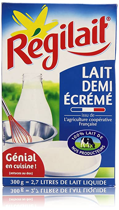 Amazon.com : Régilait Lait demi écrémé en poudre 300 g soit 2, 7 L de lait liquide : Grocery & Gourmet Food