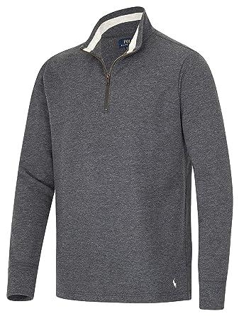 Polo by Ralph Lauren Sweat-Shirt zippé pour Homme - Gris - Medium   Amazon.fr  Vêtements et accessoires 3a5a12beb23