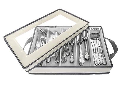 amazon com flatware storage chest by chapman grand light cream