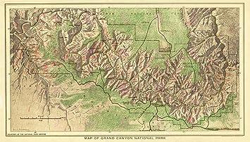 Amazon.com: MAP 1926 USGS GRAND CANYON NATIONAL PARK ...