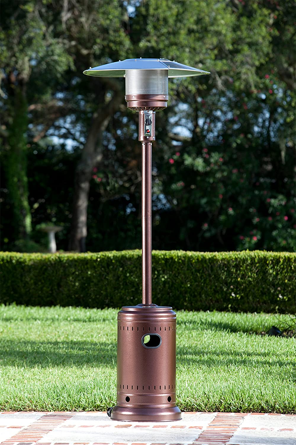 Amazon.com : Fire Sense 46, 000 BTUXL Series (Stainless Steel) Patio Heater  With Wheels (Propane) : Patio, Lawn U0026 Garden