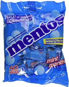 Mentos Chewy Mint Candy, Individually Wrapped, Party, Non Melting, 40 Piece Bulk Peg Bag