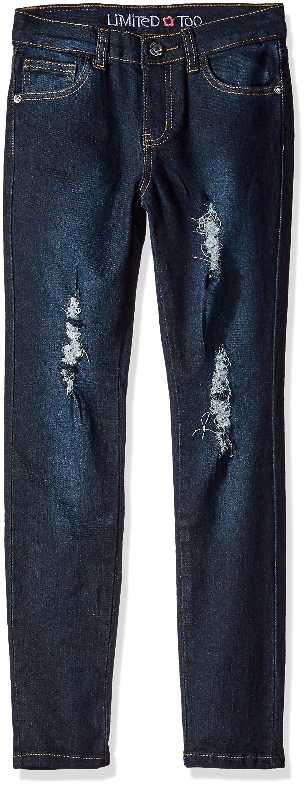 Limited Too Girls' Skinny Jean,1619 Blue Black Denim,14