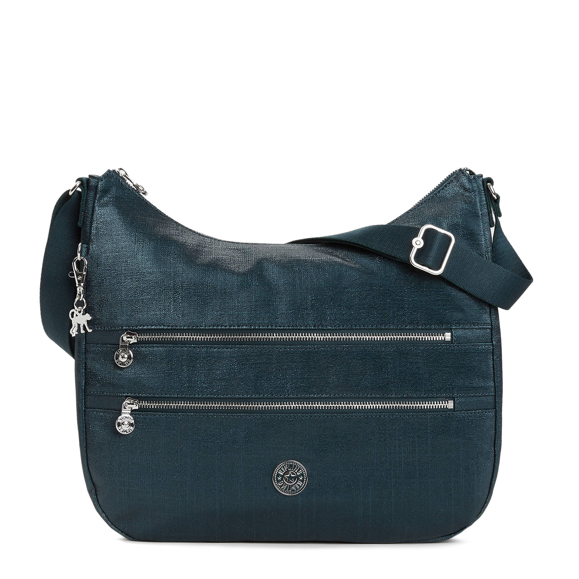 Kipling Women's Bridget Metallic Handbag One Size Blended Blue Metallic by Kipling