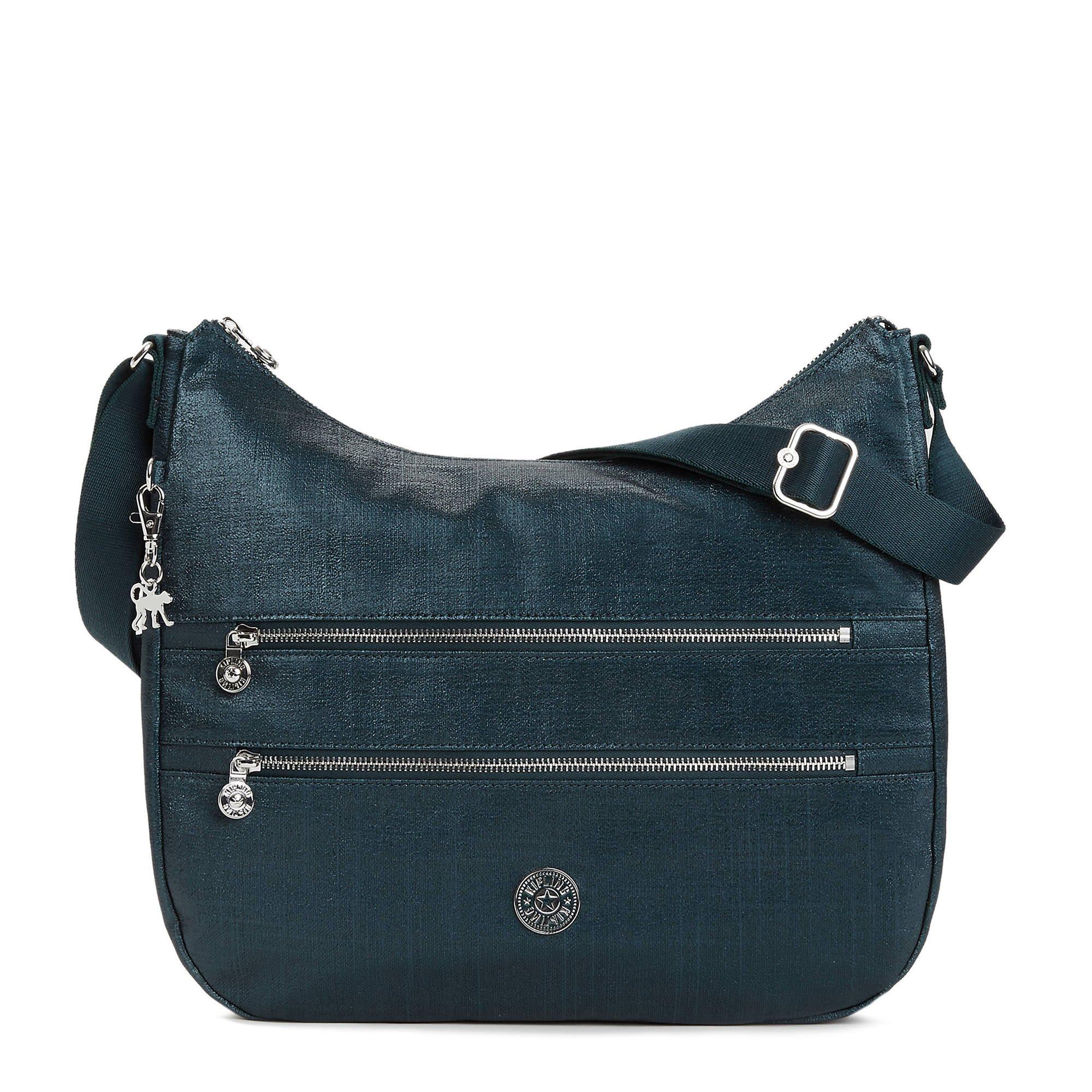 Kipling Women's Bridget Metallic Handbag One Size Blended Blue Metallic