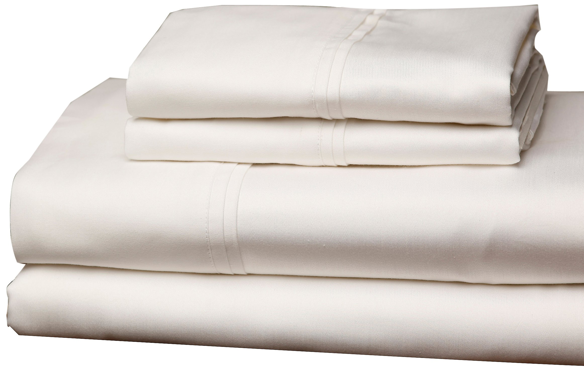 Fashion Bed Group QH0303 Soothing Ivory 4-Piece T310 Home Collection Bed Sheet Set with 310-Thread Count Fabric, Split Cal King