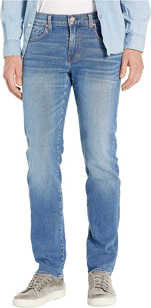 7 For All Mankind Mens Jeans Slim Fit Straight Leg Pants