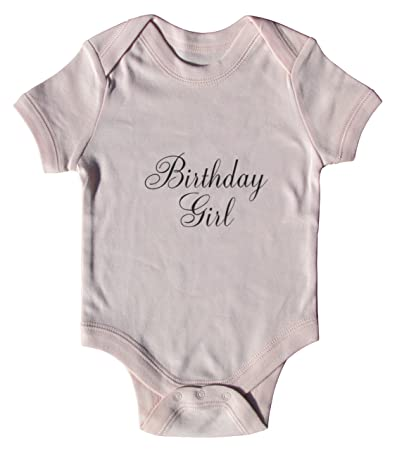 cf7af968 Image Unavailable. Image not available for. Color: Birthday Girl Black  Script Cotton Baby Onesie ...