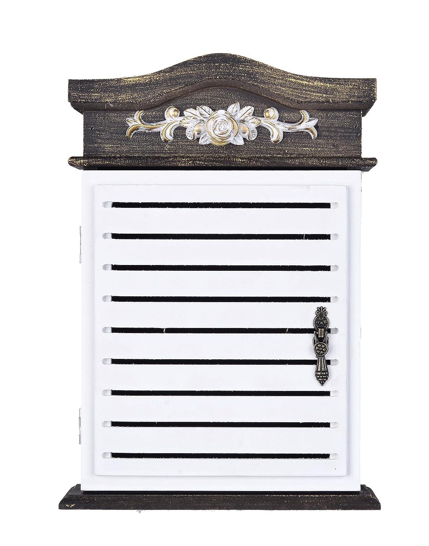 Amazon.com: Caja de madera para llaves con 6 ganchos para ...