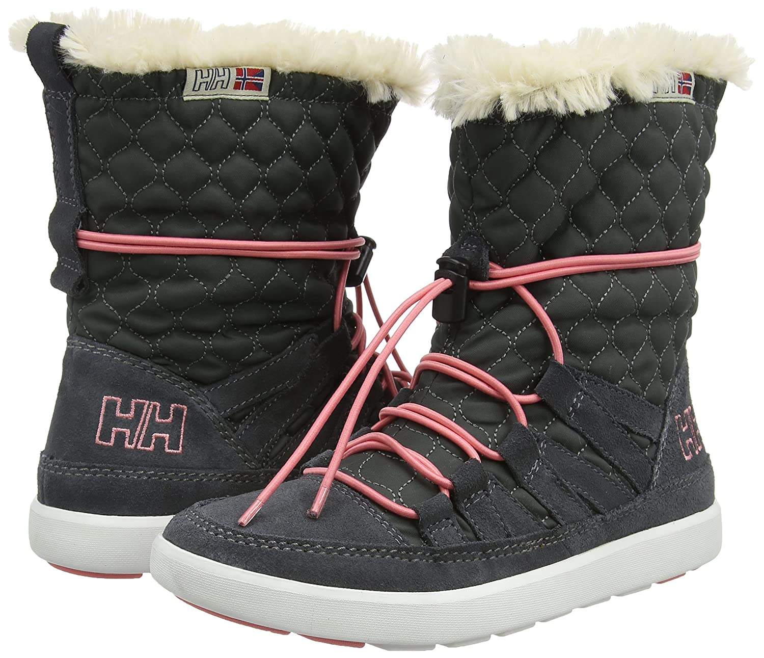Helly Hansen Women's Harriet Cold Weather Boot B00XIA8CUY 8.5 B(M) US|Charcoal/Ebony/Off White
