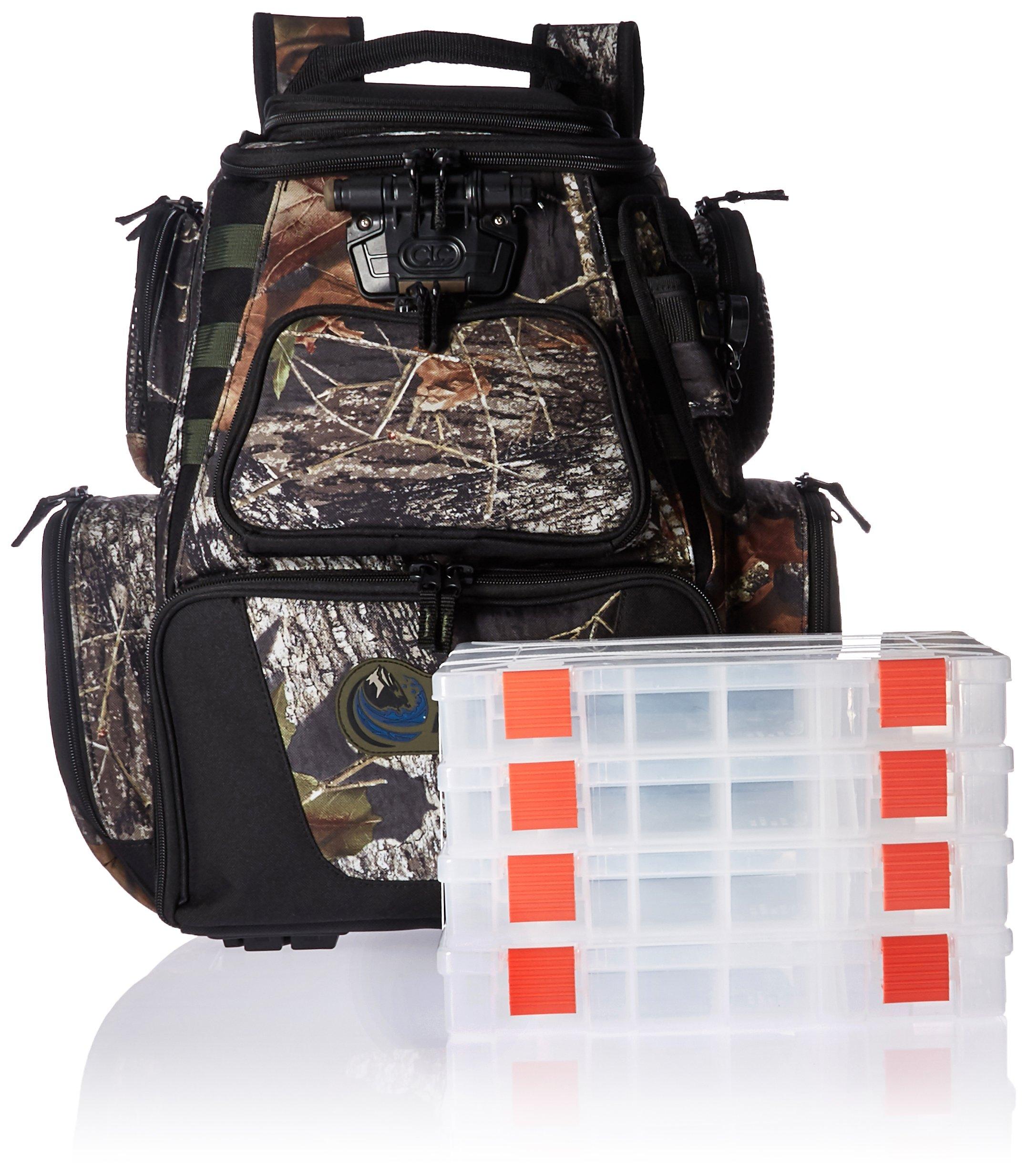 Wild River NOMAD Mossy Oak Tackle Tek Lighted Backpack w//4 PT3600 Trays 1 Year Direct Manufacturer Warranty