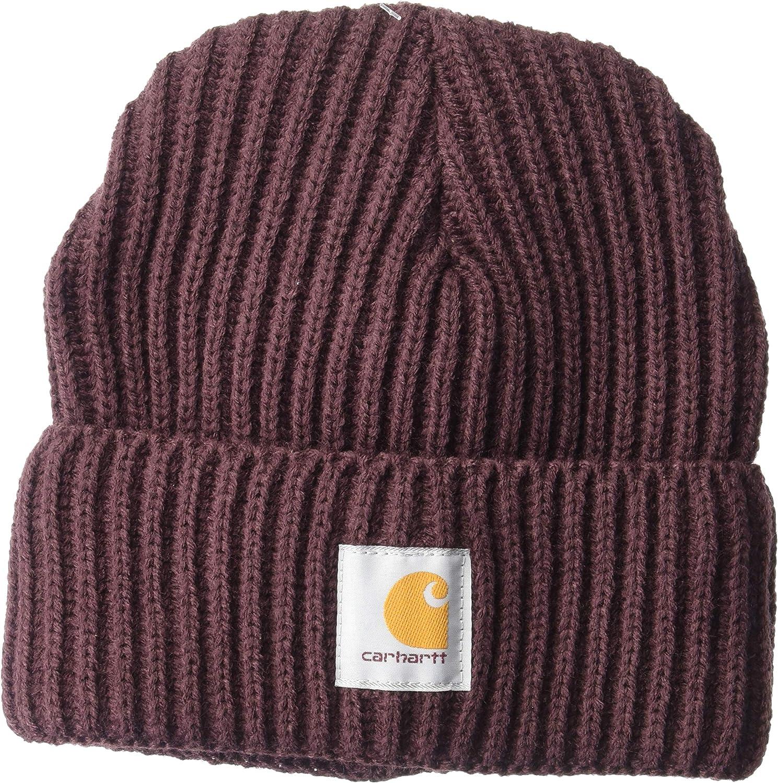 Carhartt Women's Rib Knit Acrylic Hat, Deep Wine, OFA at  Women's Clothing store