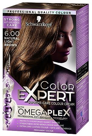 4c124c391c Schwarzkopf Colour Expert Omegaplex Hair Dye, Number 6.0, Natural Light  Brown