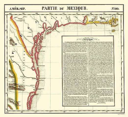 Amazon Com Maps Of The Past Mexico Texas Gulf Coast