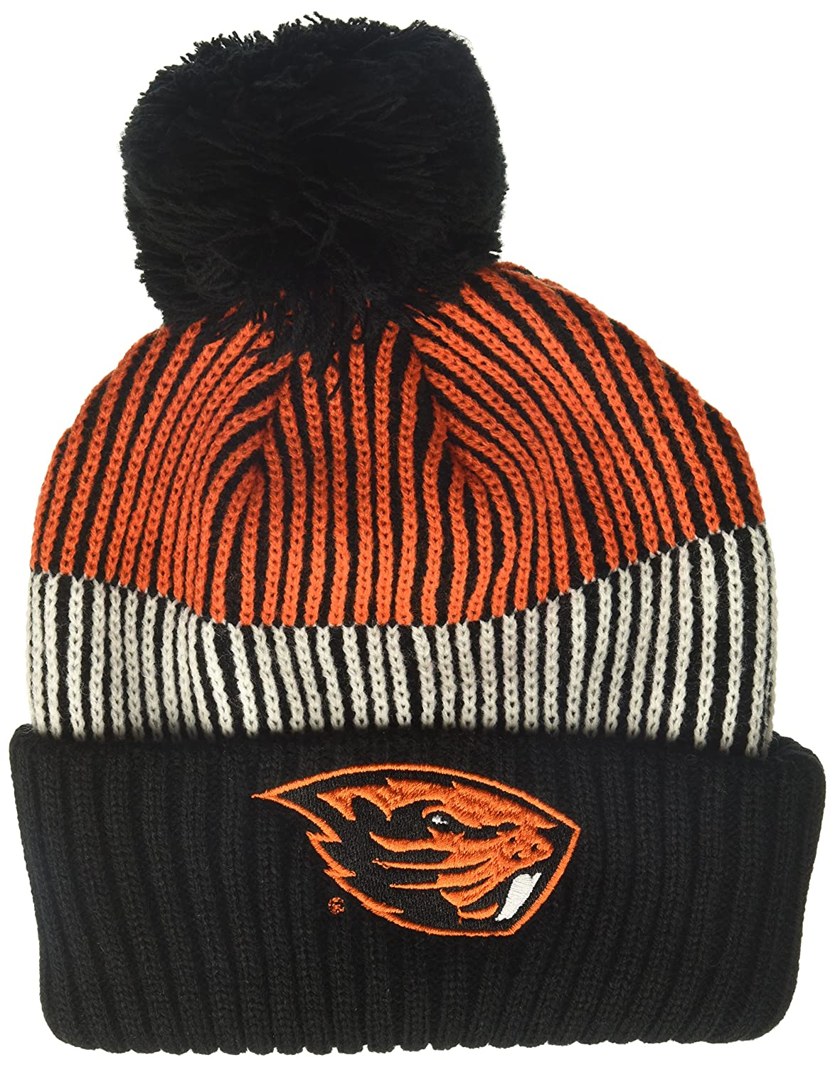 Youth One Size NCAA Oregon State Beavers Youth Outerstuff Team Stripe Cuffed Knit Hat Team Color