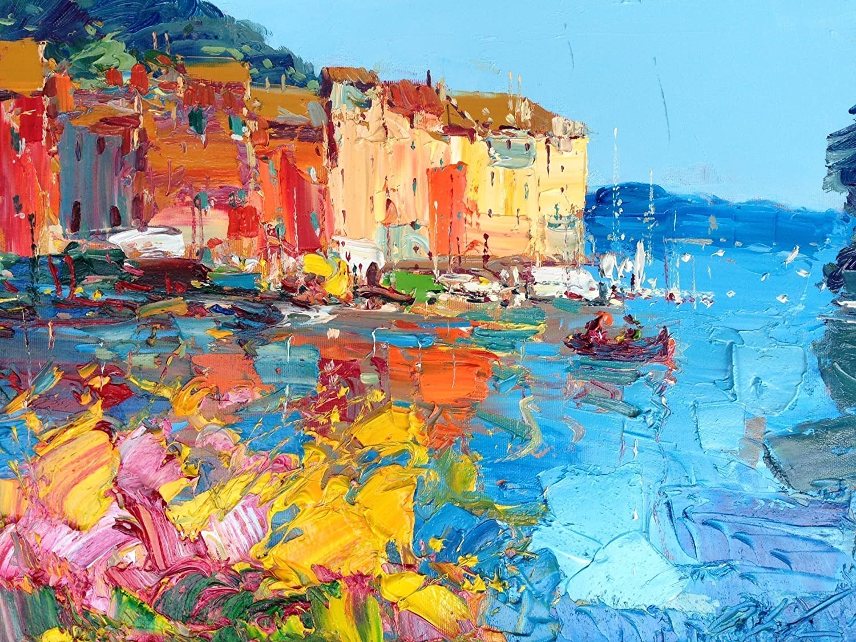 Amazon.com: Colors at Portofino Fine Art Print Italian Seascape ...