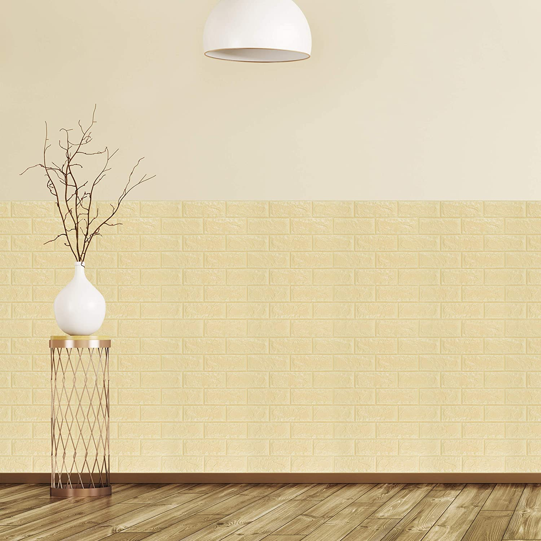 78 X 70 X,7 Cm Relaxdays 3D in PE-Gommapiuma Decorativi Set da 5 78x70 cm Effetto Pietra Bianco Pannelli da Parete Autoadesivi