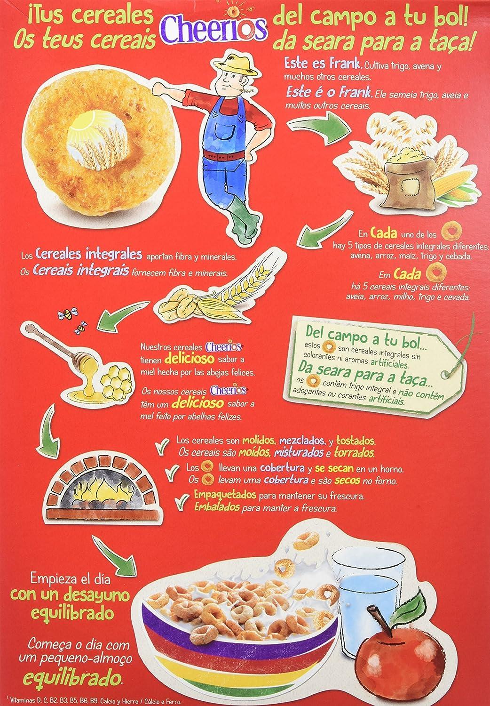 Cheerios - Cereales con Avena Integral Tostados y Miel - 3 Paquetes de 375 g: Amazon.es: Alimentación y bebidas