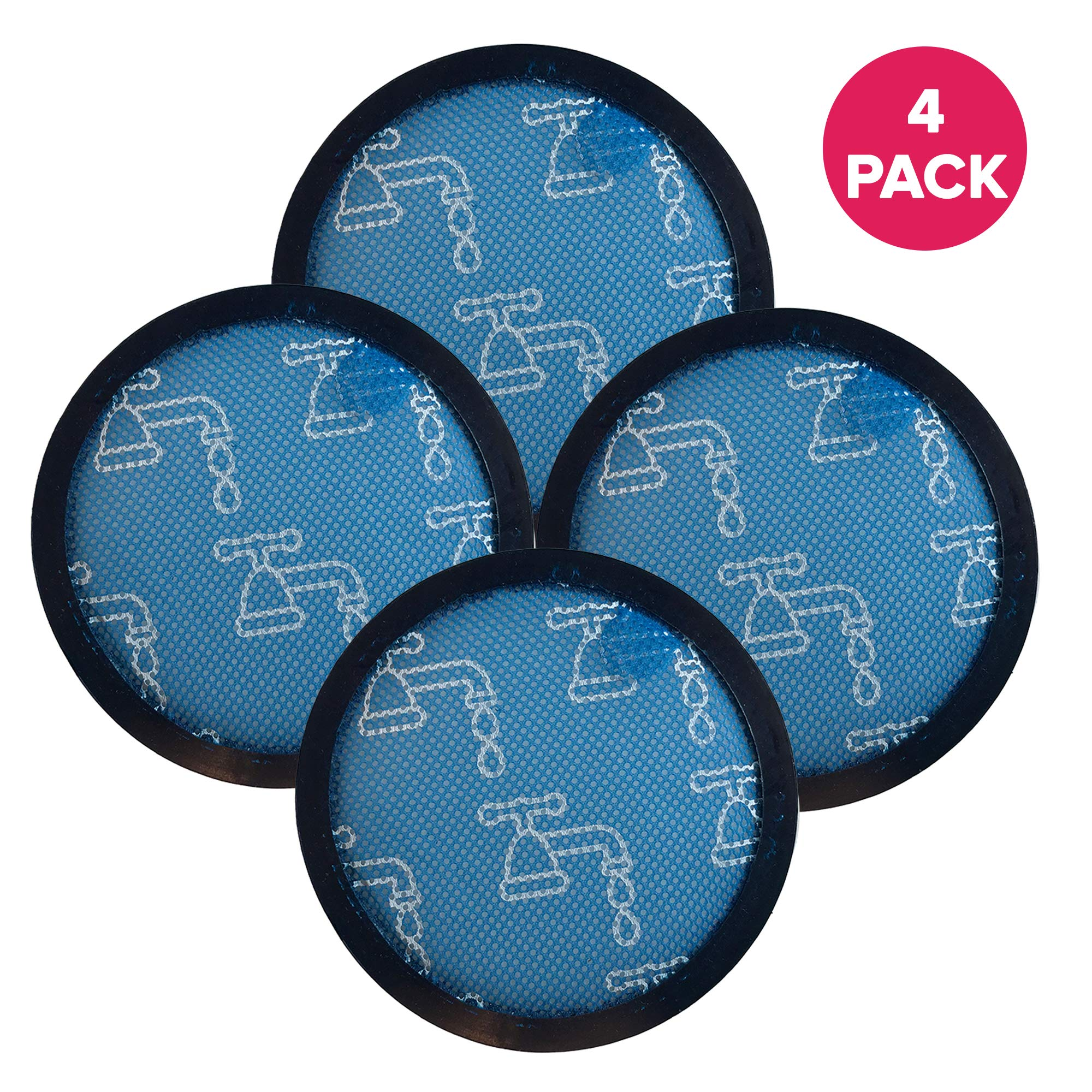 Crucial Vacuum Air Filter Replacement Part # 911236-01 - Compatible with Dyson DC-17 - Replaces Pre-Motor Filters - for Models Dyson DC17 Pre-Filter - Durable, Washable, Vac Air Purifier (4 Pack)