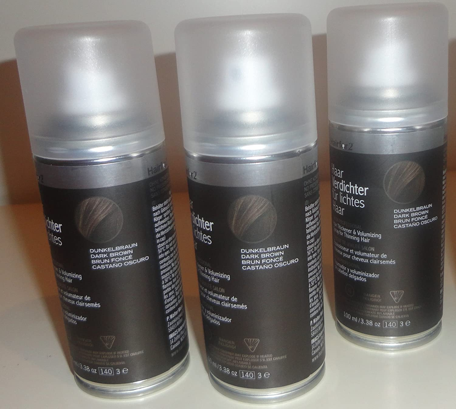 3 x hairfor2 pelo crecepelo Spray 100 ml: Amazon.es: Salud y cuidado personal