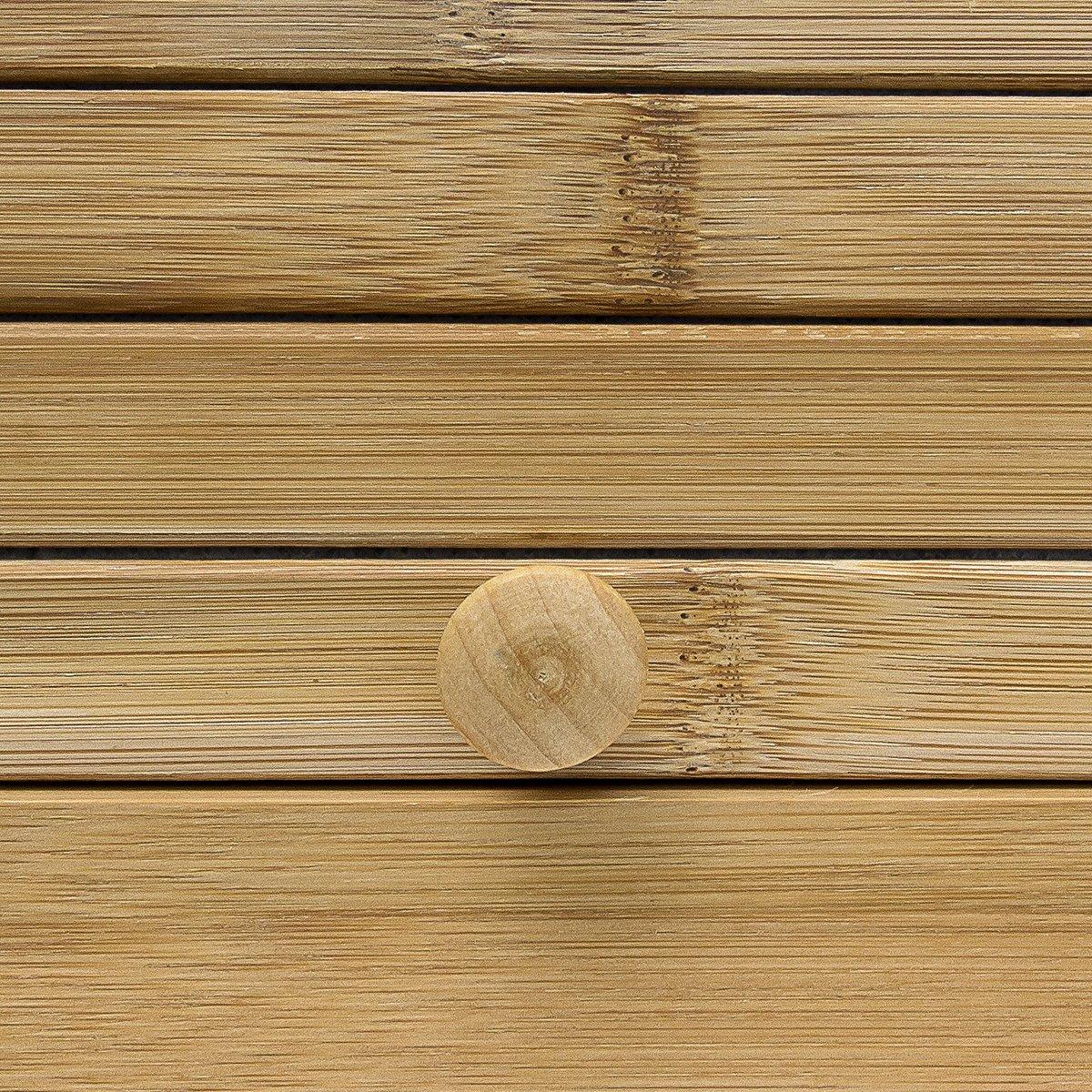 Relaxdays Portapane in bamb/ù 40 X 27.5 X 16.5 cm Marrone Chiaro