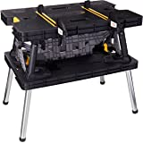 Keter 17199331 Folding Work Table With Adjustable Legs