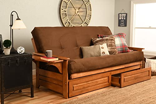 Kodiak Furniture Phoenix Futon, Full, Suede Chocolate