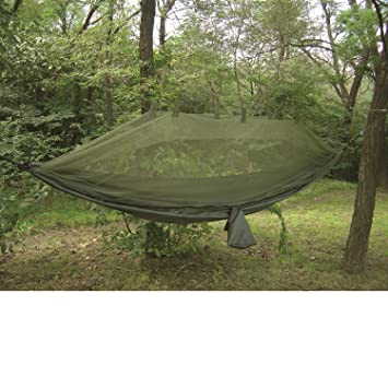 Medium image of proforce equipment jungle hammock with mosquito   olive