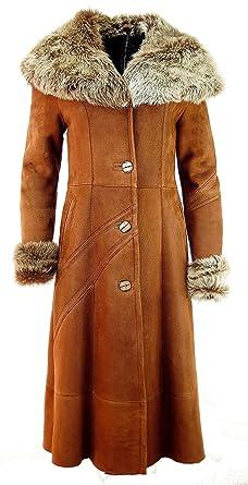 Lammfell mantel lang