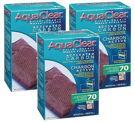 Amazon.com: (3 Pack) AquaClear 70 Carbón Activado, 4,9 onza ...