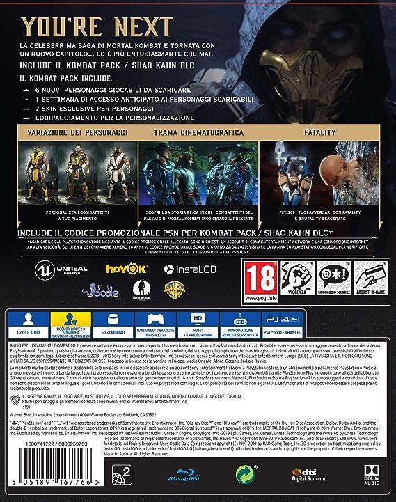 Mortal Kombat 11 Premium Edition - PlayStation 4 [Importación ...