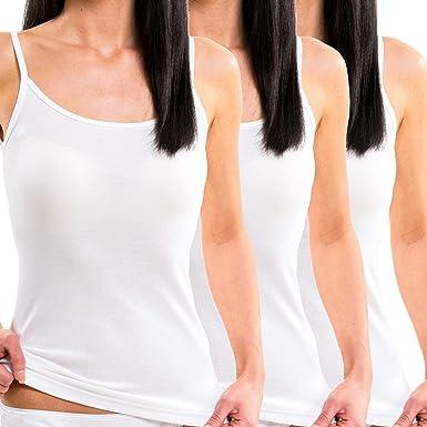 HERMKO 1560 Kit de 3 Camisetas de Tirantes 100% algodón: Amazon.es: Ropa y accesorios