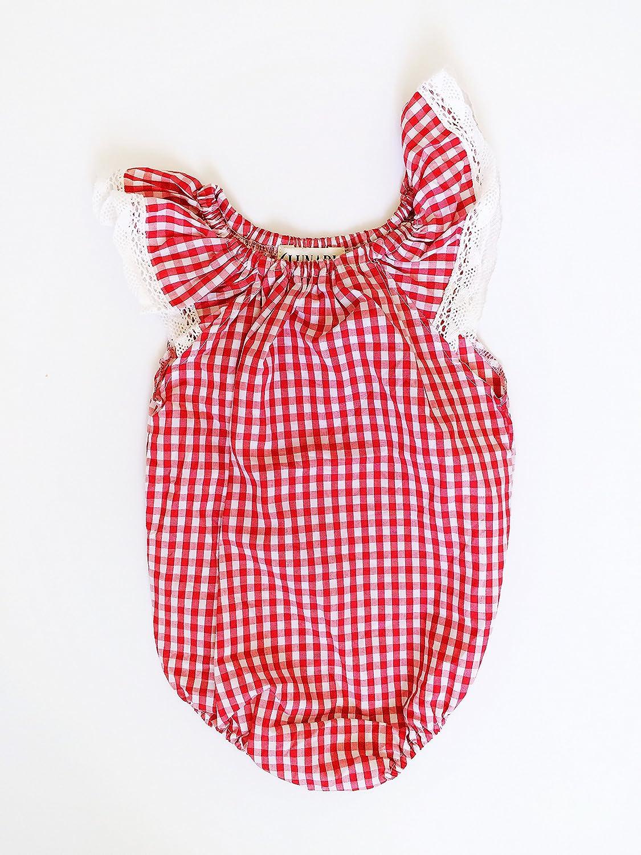 Gingham Lunaby Baby Vintage Baby Romper