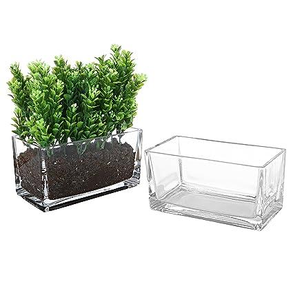 Amazon Mygift 75 Inch Modern Clear Glass Trough Vase