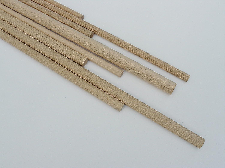 D: 20 mm 50 Stk Rundst/äbe Buche glatt L: 100 cm nach DIN 68150