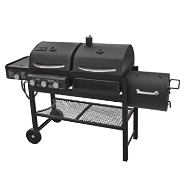 Smoke Hollow TC3718SB Gas-Charcoal-Smoker Combination Grill with Side Burner
