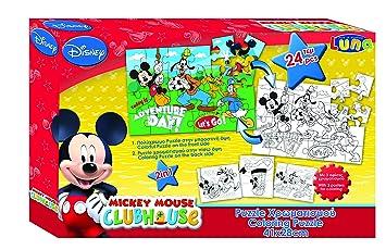 Vamos 2 Caras 060476 - Puzzle para Colorear (+ 3 Posters - Mickey Mouse - 24 Piezas: Amazon.es: Juguetes y juegos