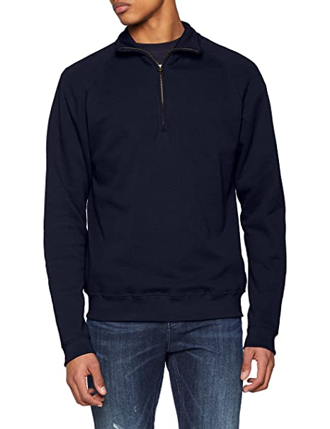 Fruit of the Loom Classic Zip Neck Sweat, Sudadera para Hombre