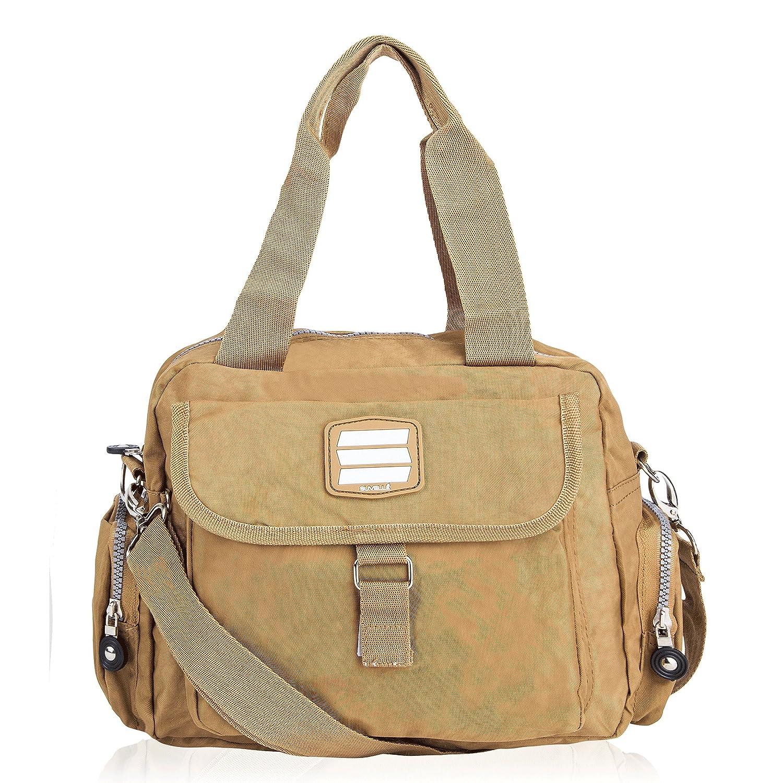 Suvelle Lightweight Go-Go Messenger Travel Everyday Crossbody Bag Multi Pocket Shoulder Handbag 1508 1508BK