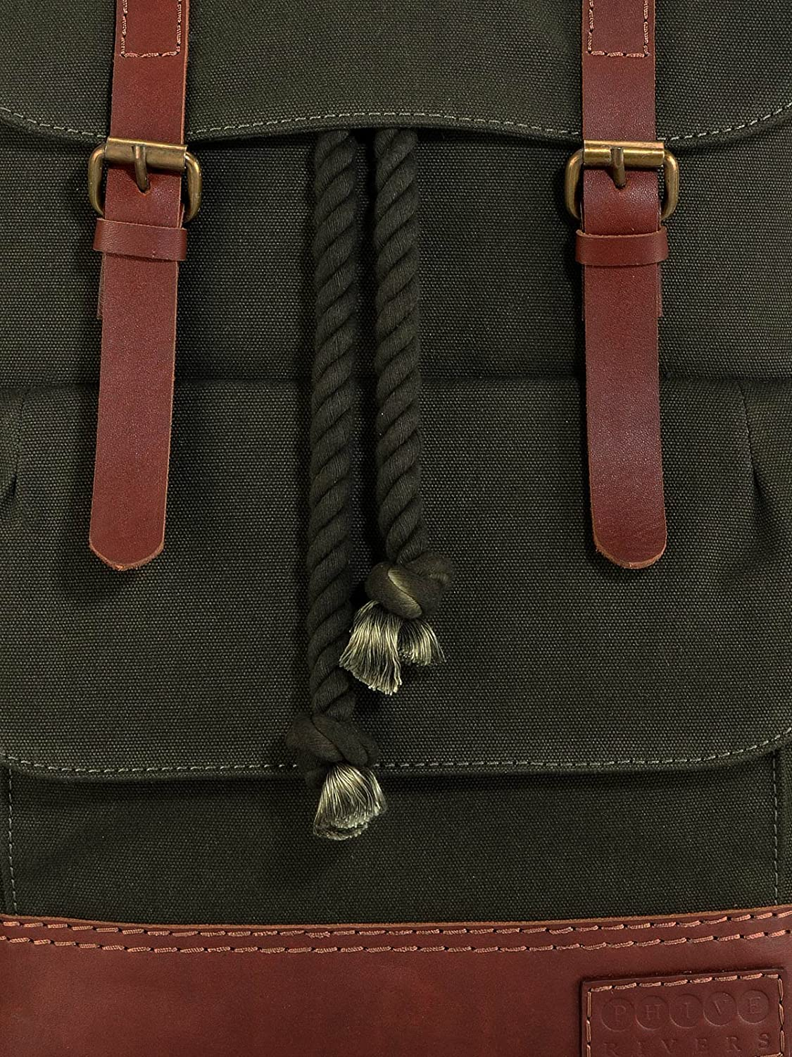 Green Phive Rivers Leather Backpack