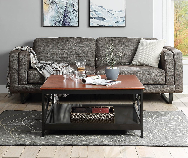 b2e1e2be0416 Black 203363BL Tables Convenience Concepts Oxford 36 Square Coffee Table