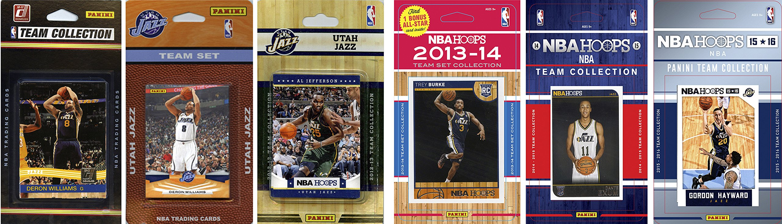 C&I Collectables NBA Utah Jazz 6 Different Licensed Team Set Trading Card