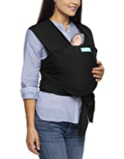 MOBY Evolution Baby Wrap Carrier for Newborn to Toddler up to 30lbs, Baby Sling from Birth, One Size Fits All, Breathable Stretchy Made from 70% Viscose 30% Cotton, Unisex
