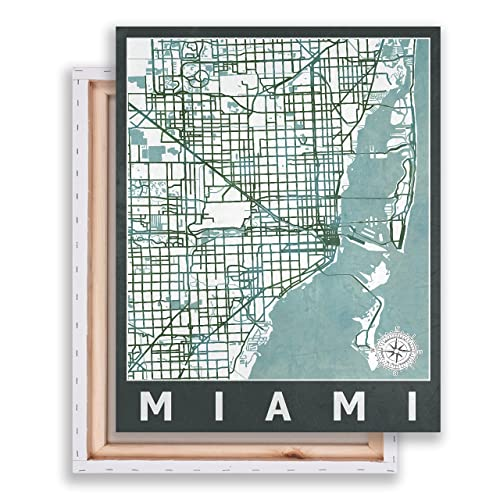 Map Of Miami Florida.Amazon Com Miami Florida Miami Street Map City Map Map Of