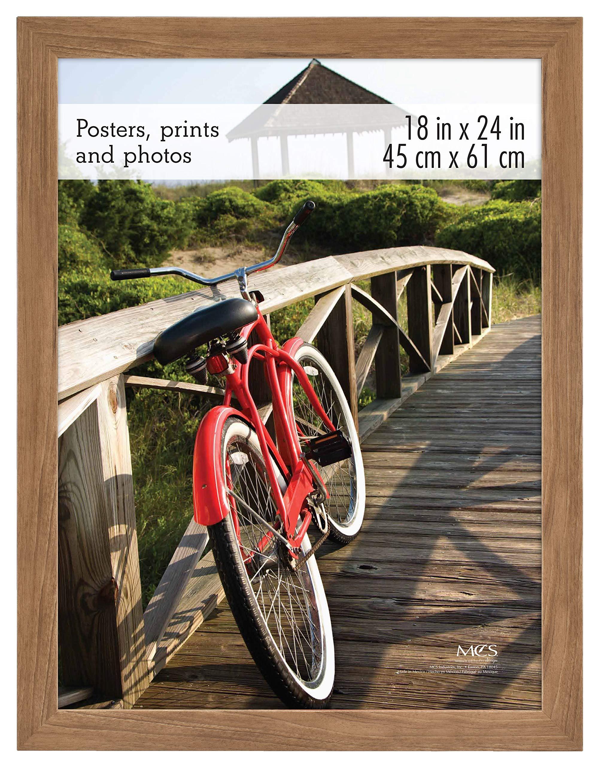 MCS 68861 Museum Poster Frame Medium Oak Woodgrain 18x24 Inch, 1 Frame by MCS Frames