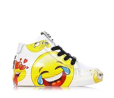 a54eeb038ca6e4 BE KOOL - Weiße Sneakers mit Schnürsenkel aus Leder
