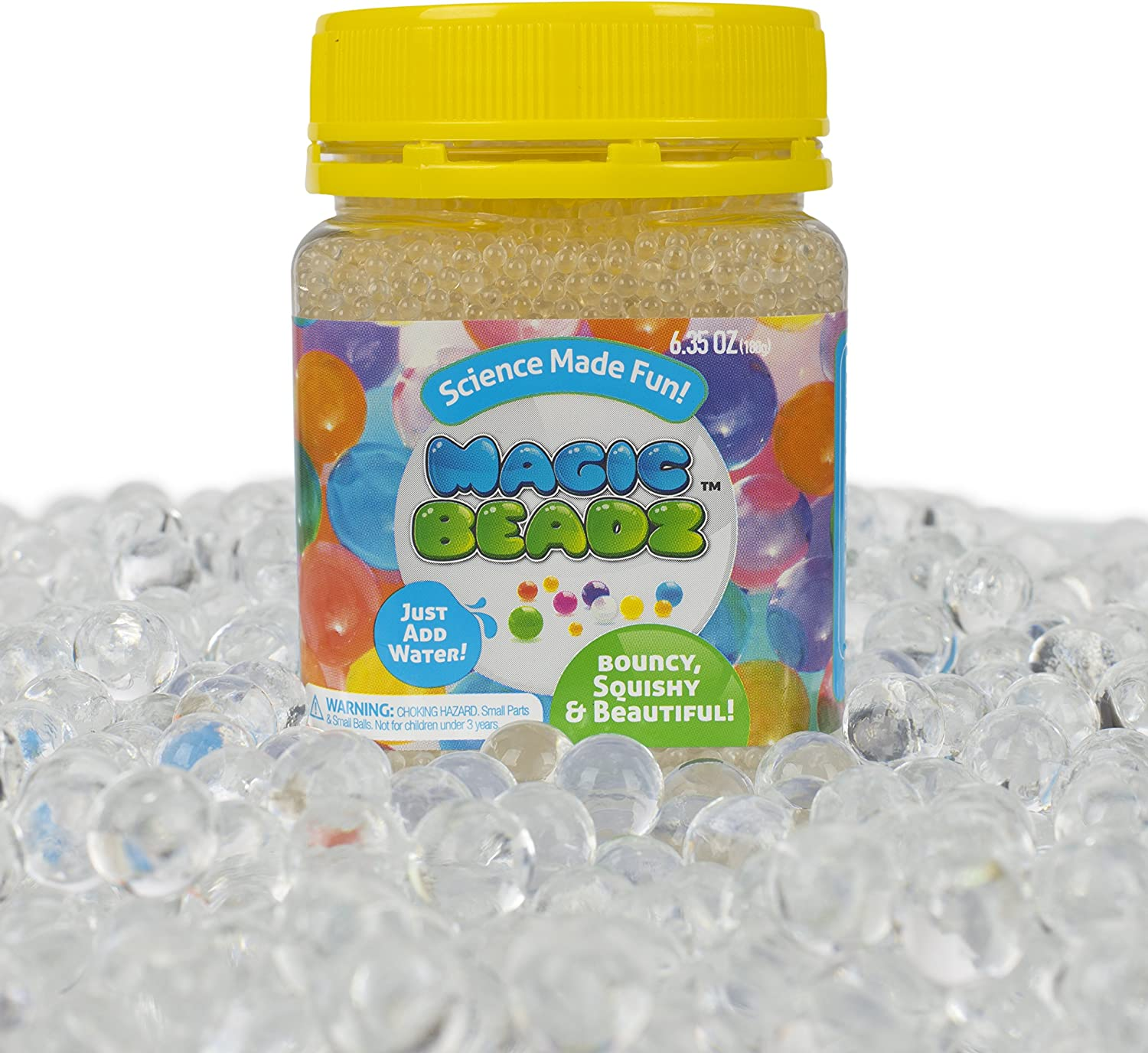 Magic Beadz - Clear Jelly Water Beads - Transparent Gel Pearls - Vase Filler - Wedding Centerpiece - Candles - Flower Arrangements - Over 20,000 Beads - Makes Over Six Gallons
