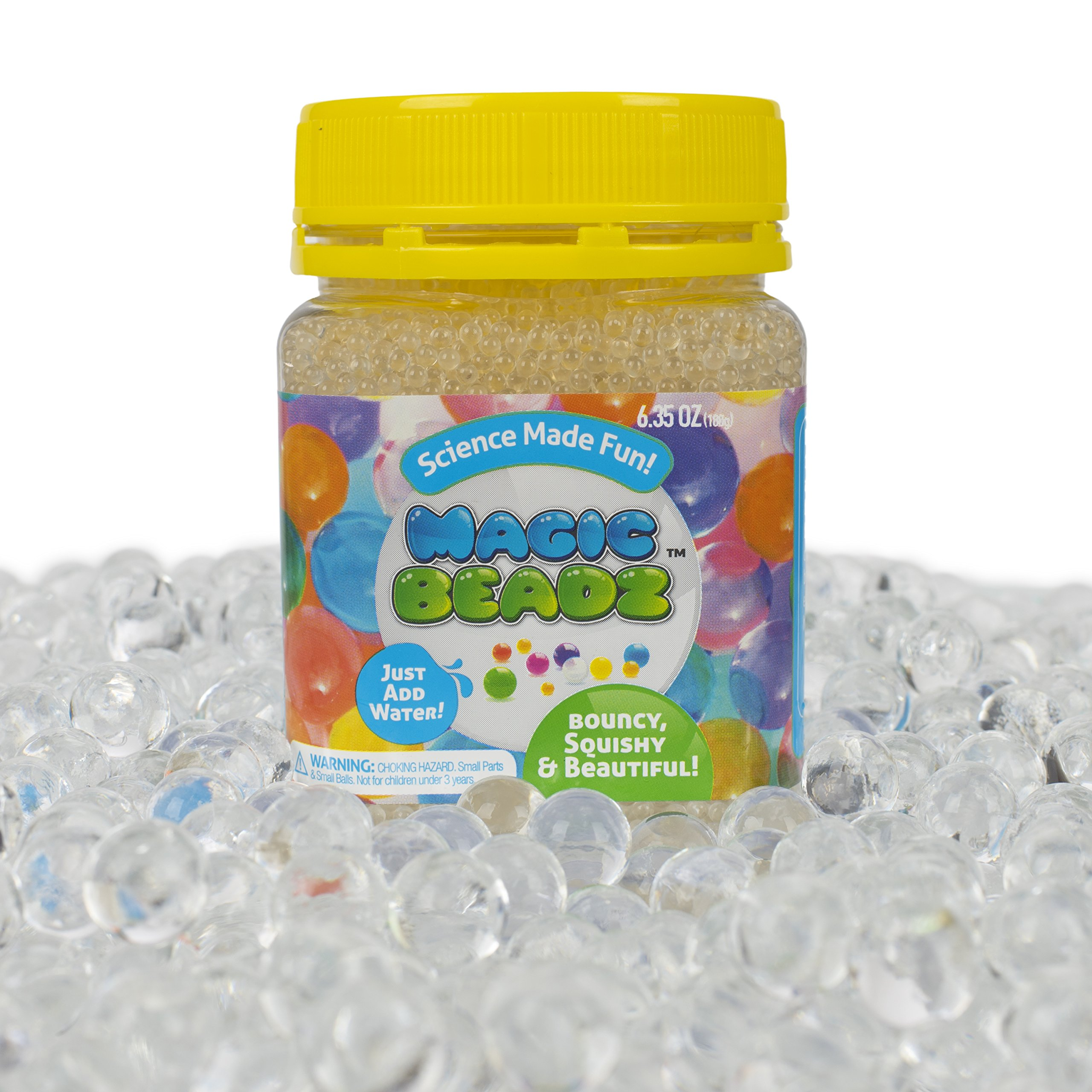 Magic Beadz Clear Jelly Water Beads - Transparent Gel Pearls - Vase Filler - Wedding Centerpiece - Candles - Flower Arrangements - Over 20,000 Beads - Makes Over Six Gallons