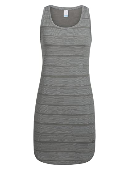 340bff692a Icebreaker Merino Women's Yanni Combed Lines Tank Dress, Combed  Lines/Metal/Snow,